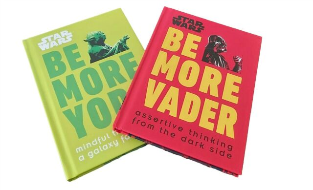 Star Wars 2 Books Be More Yoda + Be More Vader Mindful & Assertive Funny New