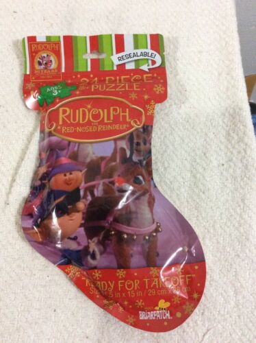 Rudolph Red Nosed Reindeer prêt pour TAKEOFF Rudolph Puzzle NEUF