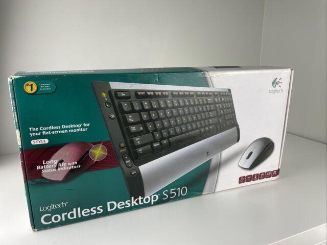 New Logitech Cordless Desktop S510 Wireless Keyboard and Mouse Combo