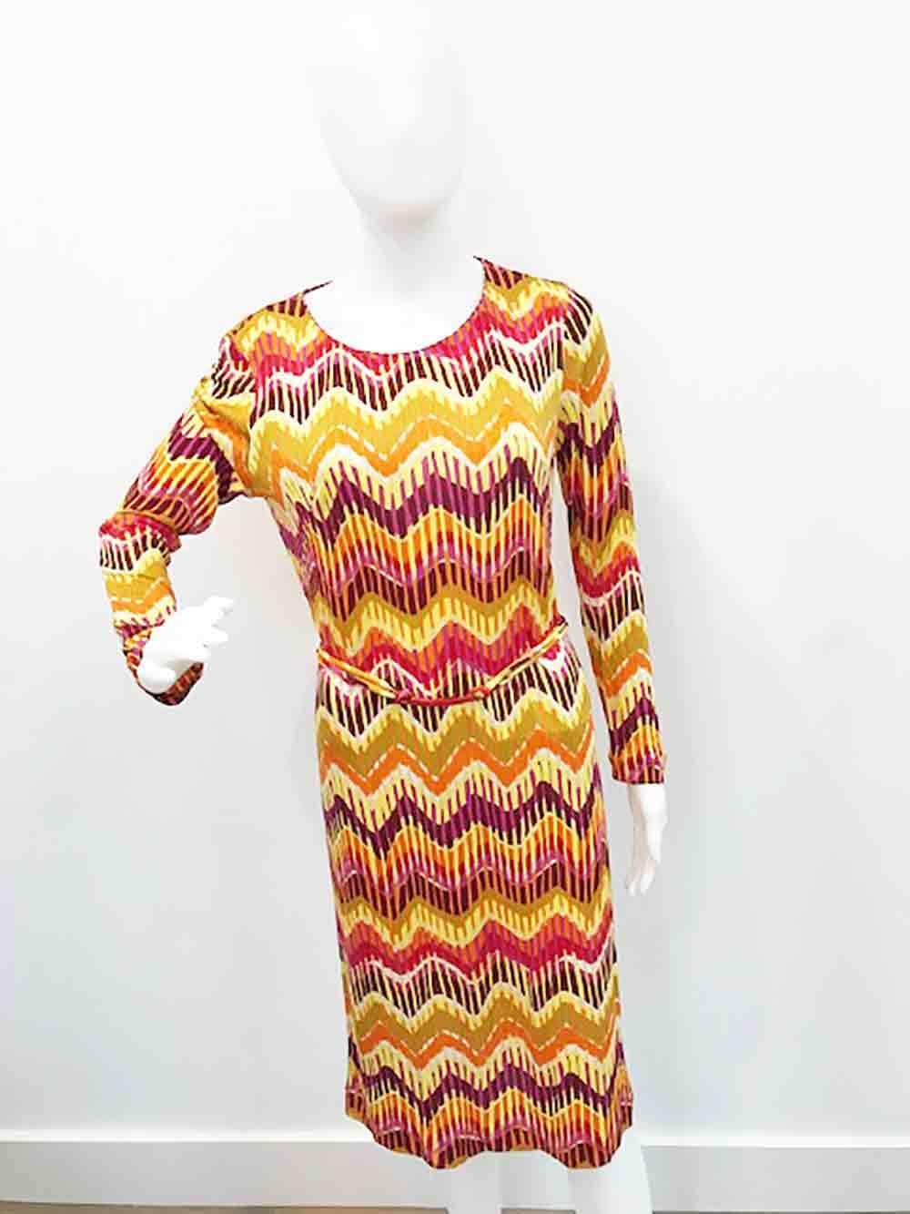 779e4b0d57a18 ... Designer Missoni VTG Stunning Stretch Silk Size 10 to 12 12 12 AU  Women's Dress 30b3aa ...