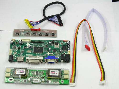 HDMI+DVI+VGA LCD Lvds Controller Board Inverter Kit for 1366X768 LTA216AT01