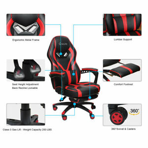 Gaming Chair Racing Recliner Height Adjustable Home Office Chair w/Footrest