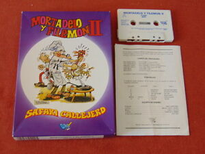 MORTADELO-Y-FILEMoN-E-FILEMON-II-CALLEJERO-SAFARI-CIB-COMPLETE-MSX-CASSETTE-613