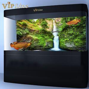 waterfall bridge hd aquarium background poster fish tank decor