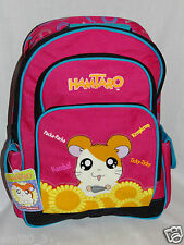 "NEW WITH TAGS HAMTARO LARGE SCHOOL PINK  12"" x 16"" BACKPACK"