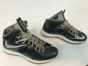 3618f58bc653 Nike LEBRON X 10 Prism Mens Shoes Size 11 Black Strata Grey White ...