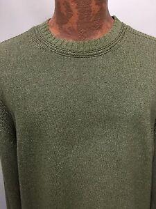 L de claro Denim Palms Suéter algodón cuello de redondo Company verde Indigo Hombre wzIRxFqq4
