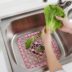 Anti-Slip-Draining-Board-Kitchen-Dish-Sink-Pad-Vegetable-Fruit-Heat-Insulat-JT