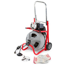 115 Volt K400 Powerful Drain Cleaning Drum Machine 38 Sleek Profile Wheels