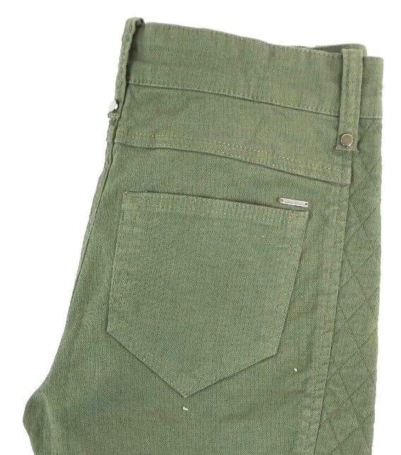NWT DIESEL Women's Olive Green P-Amal Slim Skinny Zip Ankle Denim Jeans 28 x 30