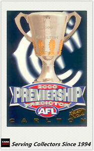 2000-Select-AFL-Millenium-Series-Premiership-Predictor-Card-PC3-Carlton-Rare
