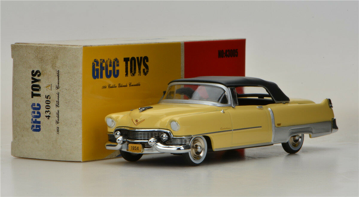 GFCC TOYS 1 43 1954 Cadillac Eldorado Congreenible  Alloy car model Yellow