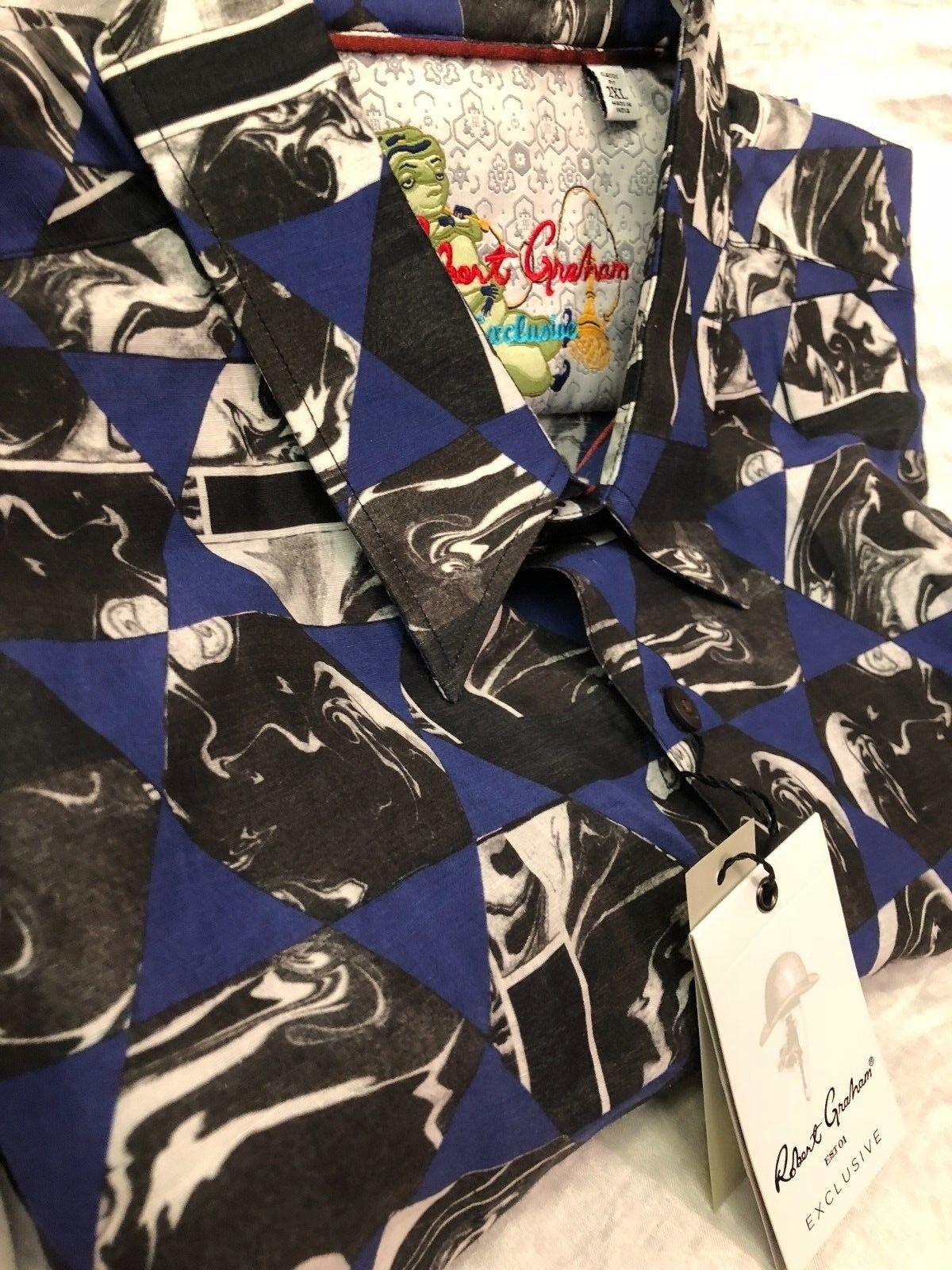 Robert Graham Mens Linen Short Sleeve Shirt Size XXL Retail   248.00