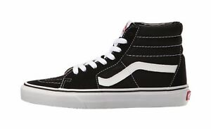 Vans-Men-Women-Unisex-Shoes-SK8-Hi-Black-White-Canvas-Suede-Fashion-Sneaker