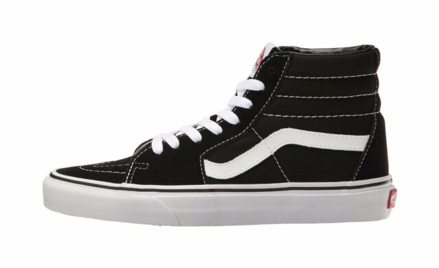 02cf7eb1d8 Vans Men Women Unisex Shoes SK8 Hi Black White Canvas Suede Fashion Sneaker