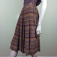 JUDY HORNBY Damen Rock Vintage M L 38 40 Seide Gestreift New York Couture Skirt