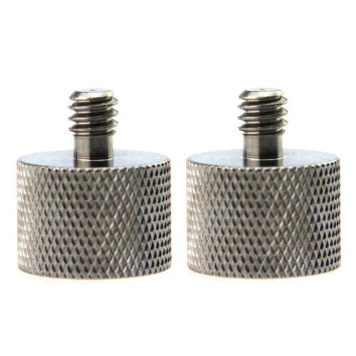 "Phot-R 2x 5//8/"" Female to 1//4/"" Male Conversion Tripod Microphone Adapter Screw"