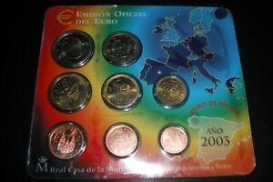 coffret bu plaquette espagne 2003  8 pieces