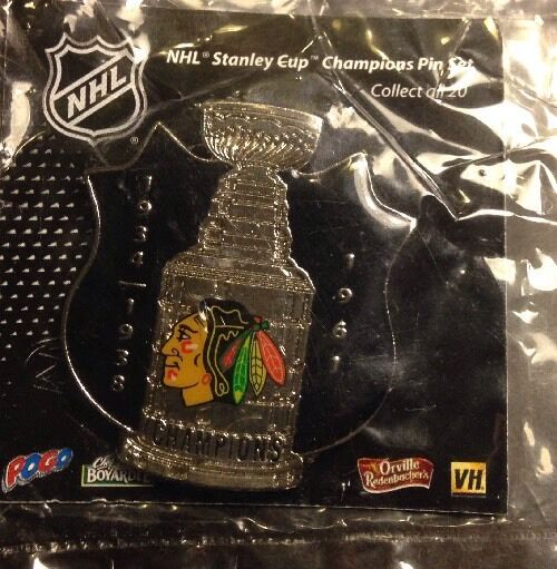 NHL Chicago Blackhawks Stanley Cup Shield Pin, Badge, Lapel, NEW, JF SPORTS