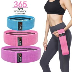 EVO-Ladies-Fabric-Resistance-Bands-Elastic-Exercise-amp-Expanders-HIP-CIRCLE-Glute