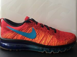 4545295e401a Exclusive NIKE Flyknit Air Max iD Orange Red Blue Size UK 11.5 EU 47 ...
