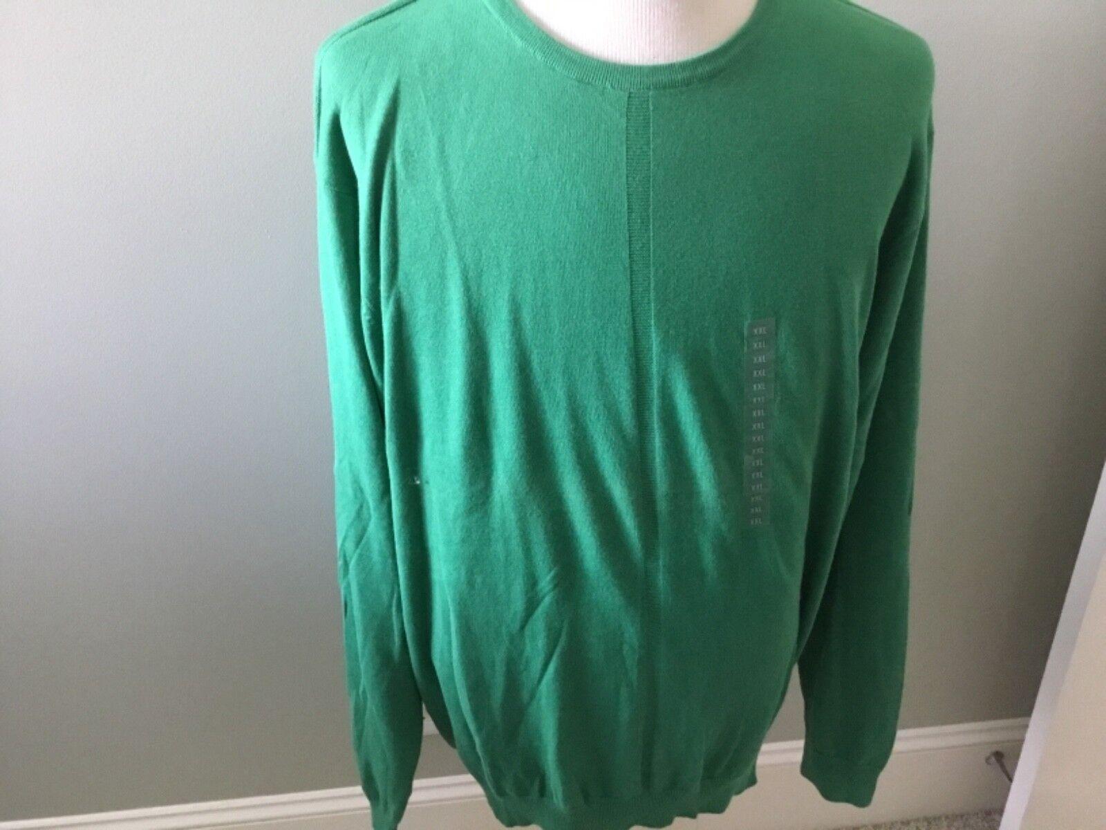 DKNY Long Sleeve Sweater Men's XXL Extra Extra Large Grün Pullover Cotton