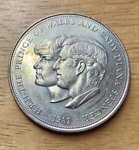 Uncirculated 1981 Charles and Diana Wedding Commemorative Crown Coin