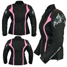 Motero Ladies Womens Motorcycle CE Armoured Waterproof Windproof Cordura Jacket