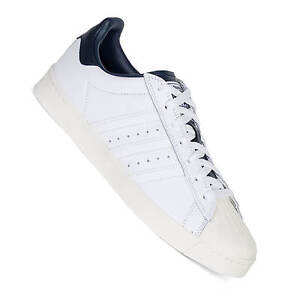 99ea8427a31 Image is loading Adidas-Superstar-Vulc-Adv-White-Navy-Skateboarding-Men-
