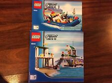 New Lego Instruction Manual ONLY City Marina 4644 Both Books