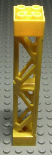 998 Lego Stütze Träger 2x2x10 Gelb für Kran