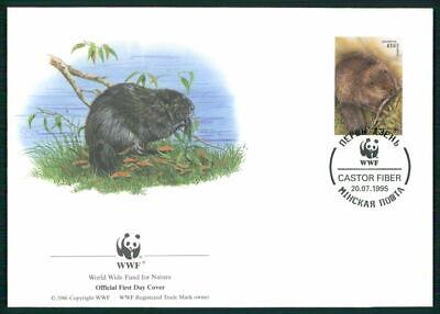 Belarus Schmuck-fdc 1995 Wwf Fauna Tiere Animals Biber Beaver Castor El85 SorgfäLtige FäRbeprozesse
