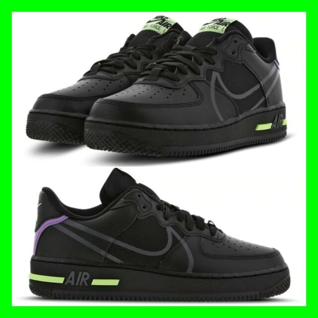 Mens Nike Black Air Force 1 Low Top Sneakers Limited Edition Trainers Shoes AF1