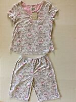 Karen Neuburger Encore Women's S Shorts Pajama Set-nwt-pink Butterfly