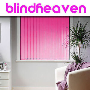 Vertical Blinds Made To Measure Blackout Fabrics 29 Colours Ebay