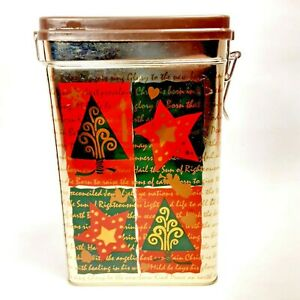 Hark the Herald Collectible Christmas Tin Rectangular Locking Storage Container