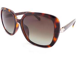 POLAROID-women-039-s-Dark-Havana-Diamante-Sunglasses-Polarized-Brown-PLD4064-086