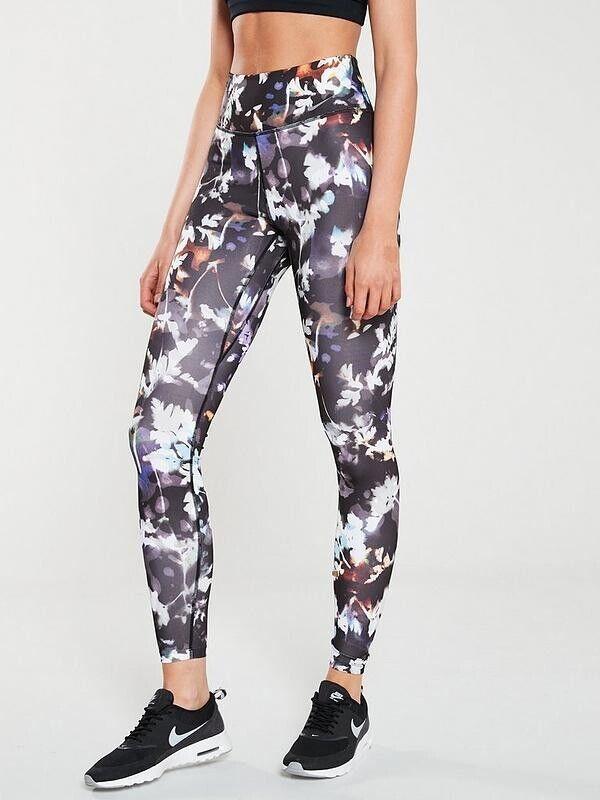 Nike Femme Leggings Running Training Gym Sports Wear Taille L L