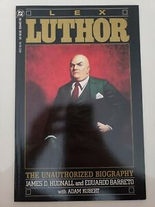 LEX-LUTHOR-THE-UNAUTHORIZED-BIOGRAPHY-GRAPHIC-NOVEL-1989-DC-COMICS-GOLD