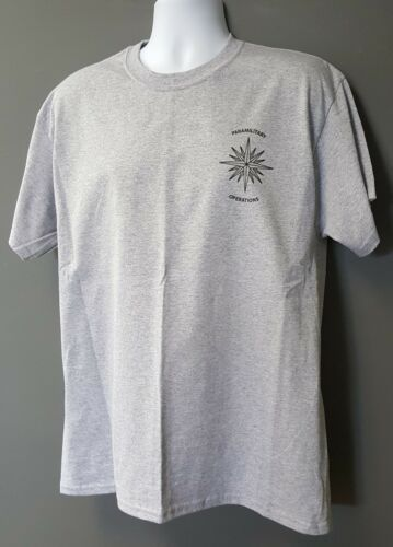 CIA NCS DO SAD SOG Paramilitary Operations Sport Gray Short Slv MORALE T-Shirt