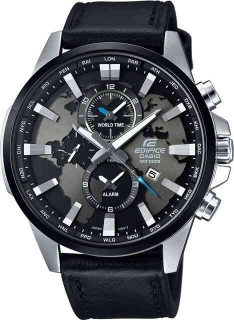 Efr 303l 1a Casio Edifice Chronograph Watch World Map Dial 100m Wr