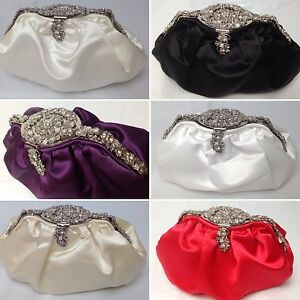 UK-Womens-ball-shaped-bridal-satin-party-evening-prom-clutch-bag-purse-458