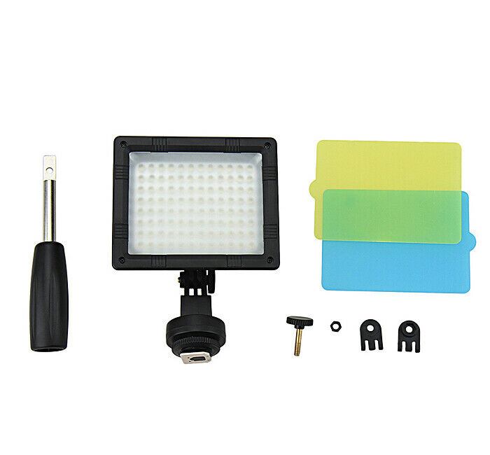 JJC LED-96 Mini Led-Video Light Continuous Light 1130 Lux For Photo And Video