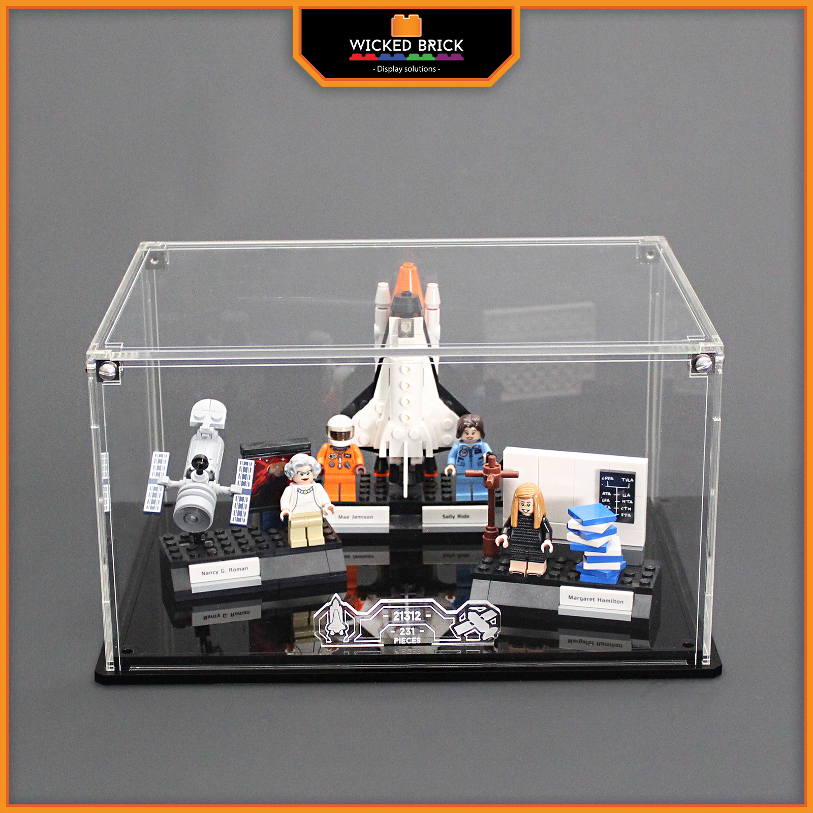 Display stand and case for LEGO Ideas  damen of NASA (21312)