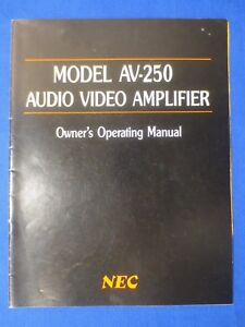nec av 250 amplifier owners operating manual factory original the rh ebay ie neck owner's manual nec dterm 80 owners manual