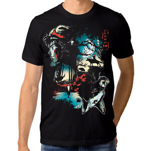 Princess-Mononoke-T-shirt-Studio-Ghibli-Anime-Tee-Men-039-s-Women-039-s-All-Sizes