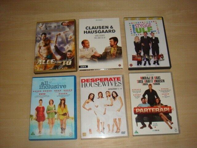 Underholdende film, DVD, komedie