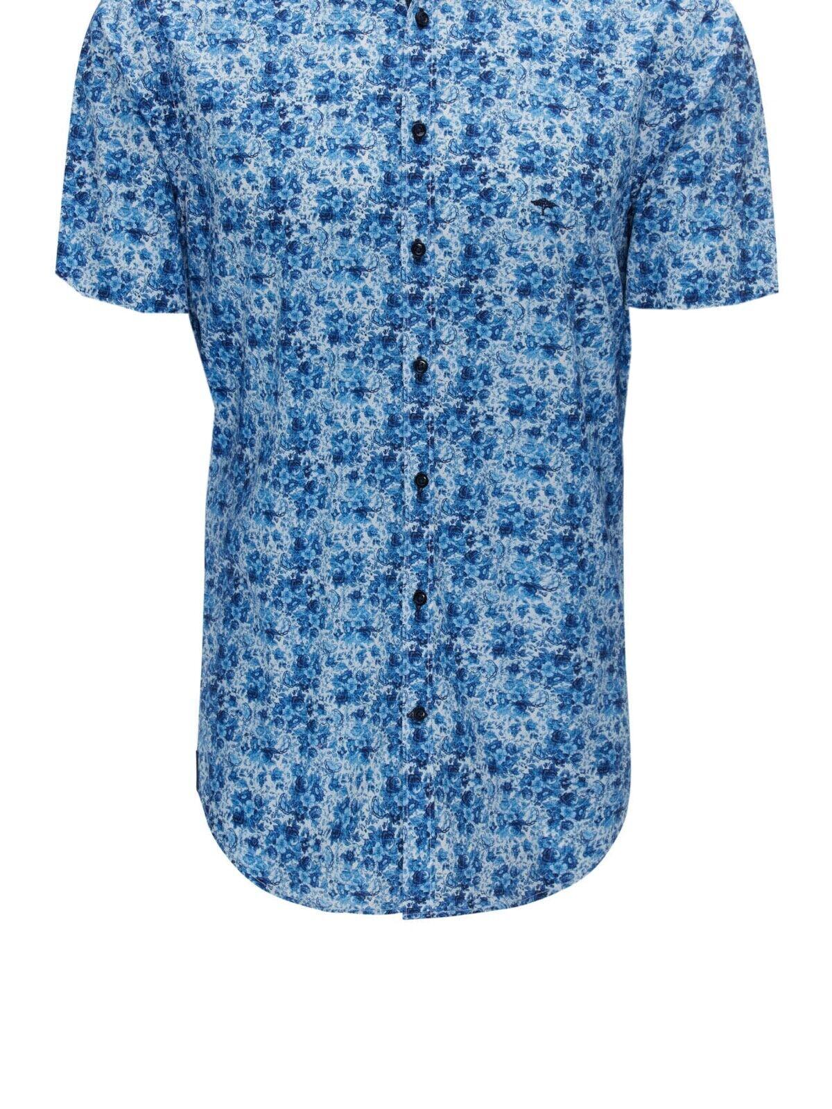 FYNCH HATTON® Short Sleeve Flower Print Shirt - XL New SS19