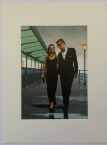 """The Morning After Rare size 16/"""" x 12/"""" mounted print Jack Vettriano"""