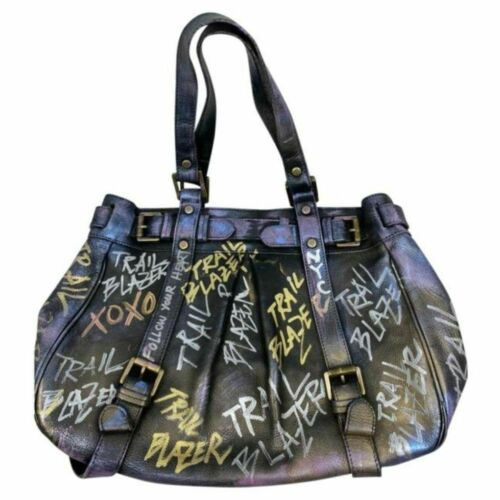 MULBERRY Vintage Large Leather Tote Bag Customized